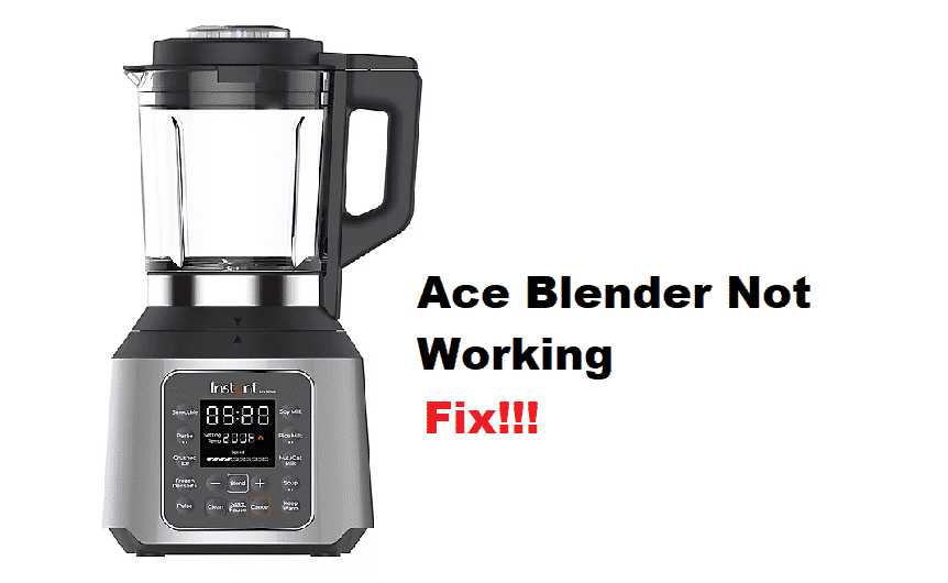 instant pot ace blender not working
