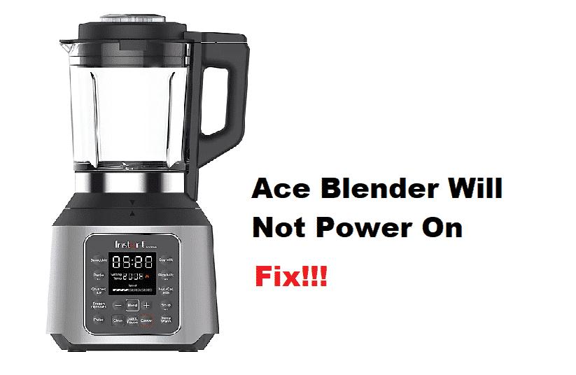 instant pot ace blender will not power on