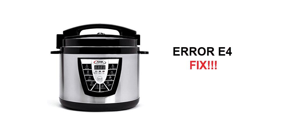 power pressure cooker xl e4 error