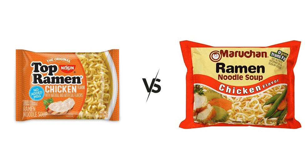 top ramen vs maruchan