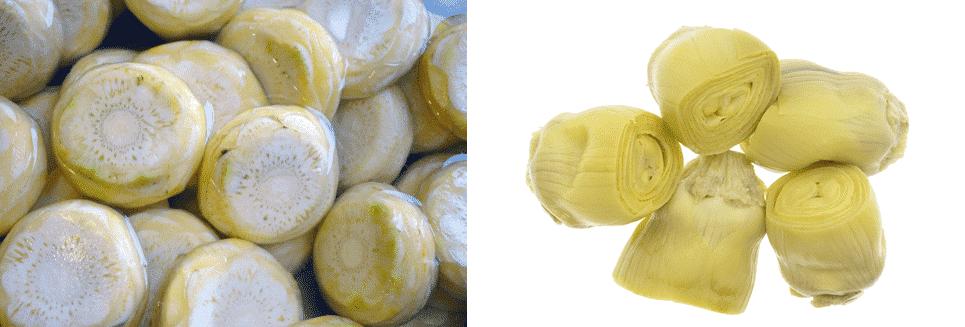 artichoke bottoms vs hearts