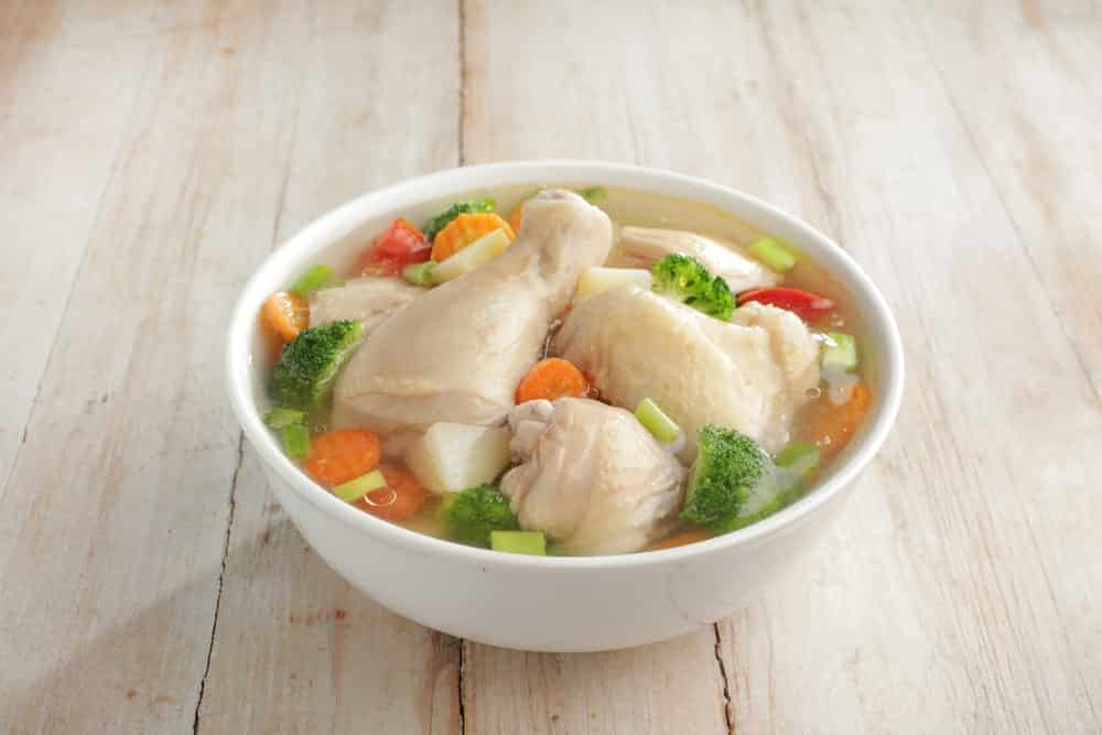 can you cook raw chicken in soup