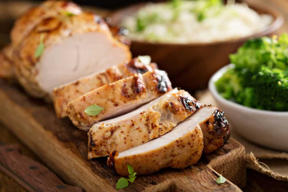 turkey breast won't stand up in pan