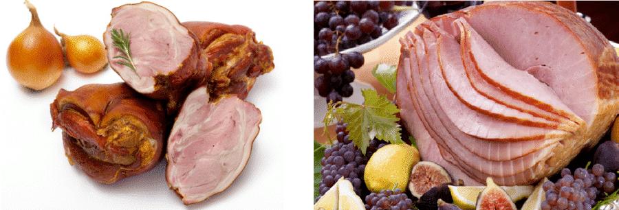 shank ham vs spiral sliced
