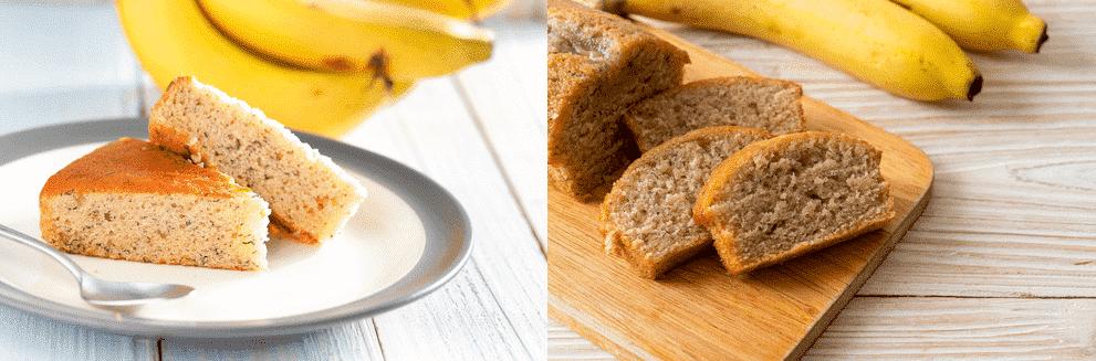banana cake vs banana bread