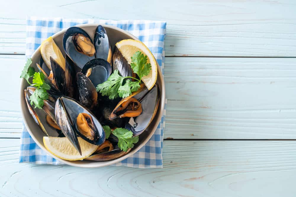 green stuff in mussels